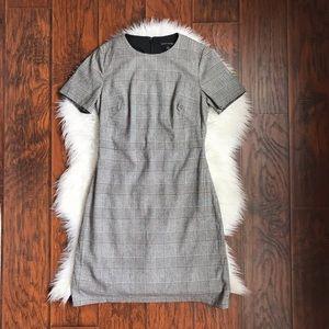 Banana Republic Wool Blend Plaid Short Sleeve Dres